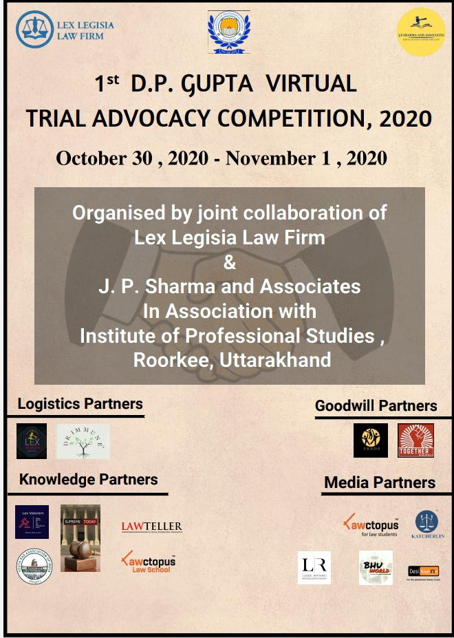 Institute of Professional Studies' 1st D.P. Gupta Virtual Trail Advocacy Competition