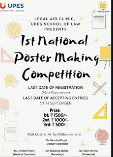 UPES 1st National Poster Making Competition