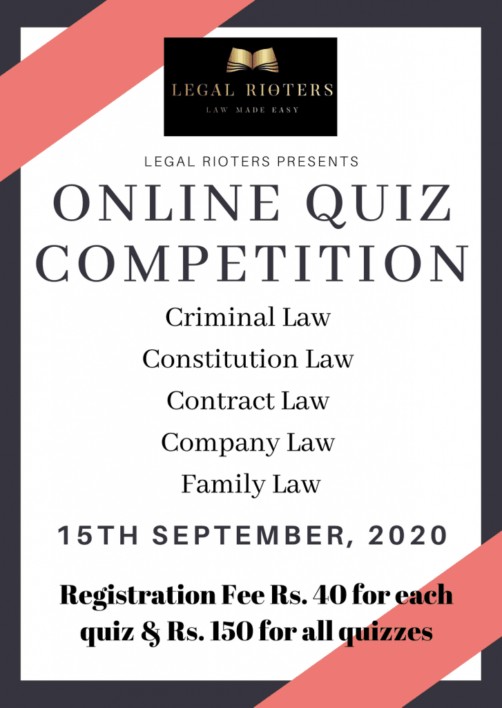 Online Quiz Competition by Legal Rioters