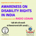 Online Session on Awareness on Disability Right by Amity University & Radio Udaan