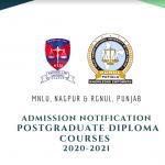 MNLU Nagpur and RGNUL's PG Diploma Courses