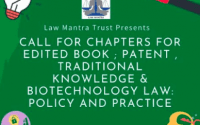 Law Mantra's Edited Book on Patent, Traditional Knowledge, Biotechnology Law
