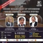 Law Joint's Webinar on Cross Examination of Witnesses under Criminal Justice System