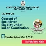RGNUL's Online Lecture on Concept of Egalitarian Equality under the Constitution