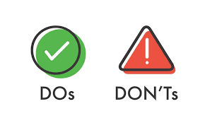 Do's and Dont's for the Big Day