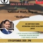 National Workshop in Mediation by IMS Law College, Noida