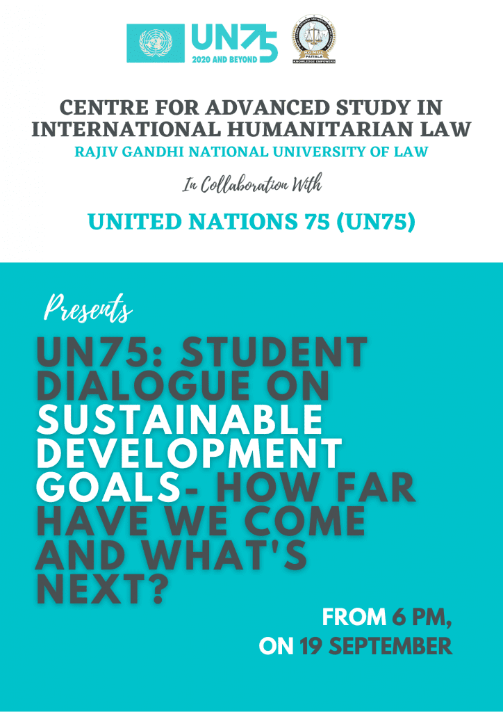RGNUL's Online Dialogue on Sustainable Development Goals