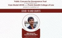 PCGT Webinar on COVID-19 and Courts with Dr. Menaka Guruswamy