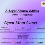 LPU's E-Legal Festival Edition: Open Moot Court