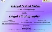 Lovely Professional University's E-Legal Festival Edition: Legal Photography