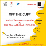 Extempore Competition by Hyman Rights Cell, Manipal University