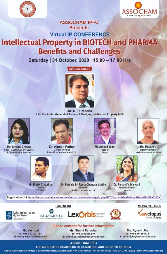 ASSOCHAM's Conference on IP in Biotech and Pharma