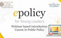 CCS' 2-Day Online Introductory Course in Public Policy 'epolicy'
