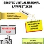 Sir Syed National Law Fest by Aligarh Muslim University Centre