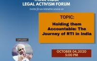 Think India Legal Activism Forum's Session on Importance of RTI and Judicial Activism