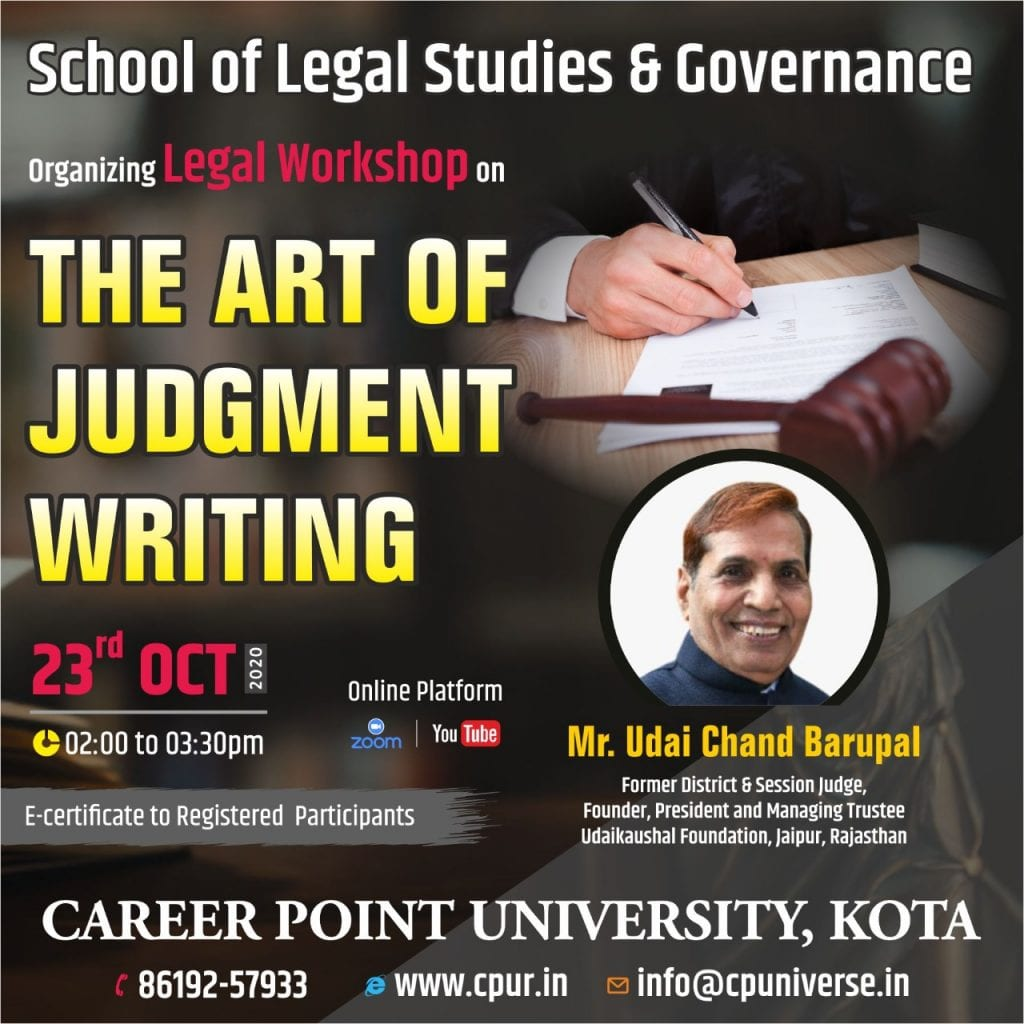 Career Point University's Workshop on The Art of Judgment Writing