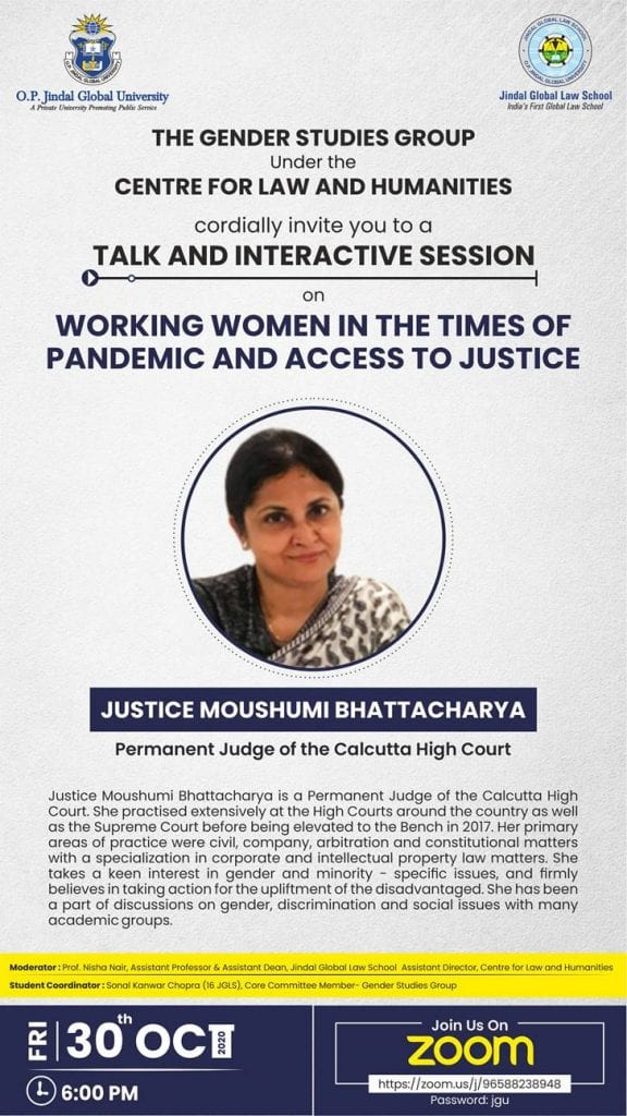 JGLS's Talk on Working Women in The Times of Pandemic and Access to Justice