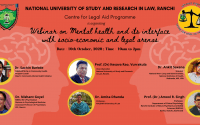 NUSRL Webinar on Mental Health & its interface with Socio-Economic and Legal Arenas
