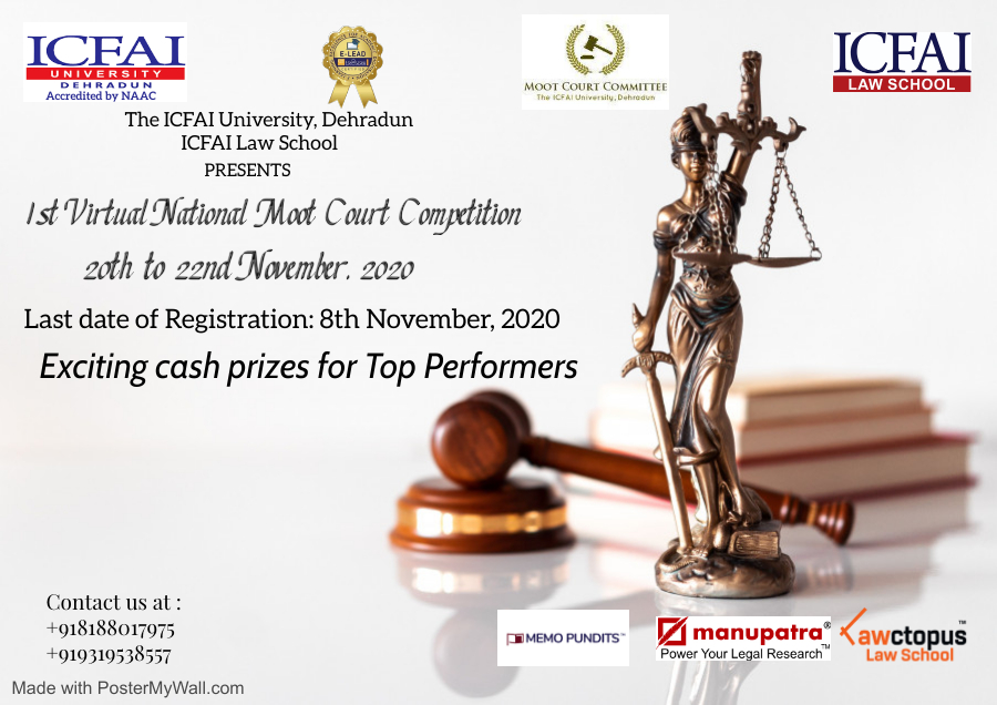 ICFAI Law School's 1st National Virtual Moot Court Competition