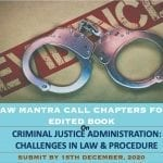 Law Mantra's Edited Book on Criminal Justice Administration