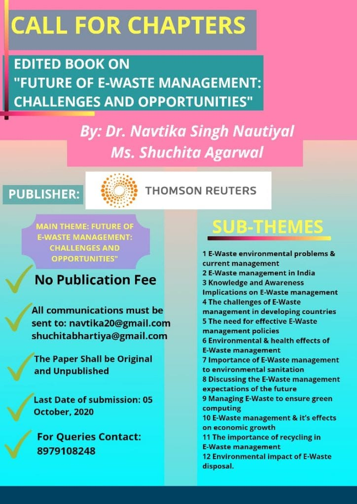 Edited Book on Future of E-Waste Management