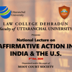 National Lecture on Affirmative Action in India and the US by Law College Dehradun