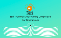 15th National Article Writing Competition by Think India