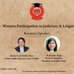 RMLNLU's Webinar on Participation of Women in Judiciary and Litigation