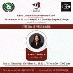 Public Concern for Governance Trust's Webinar on Freedom of Press in India