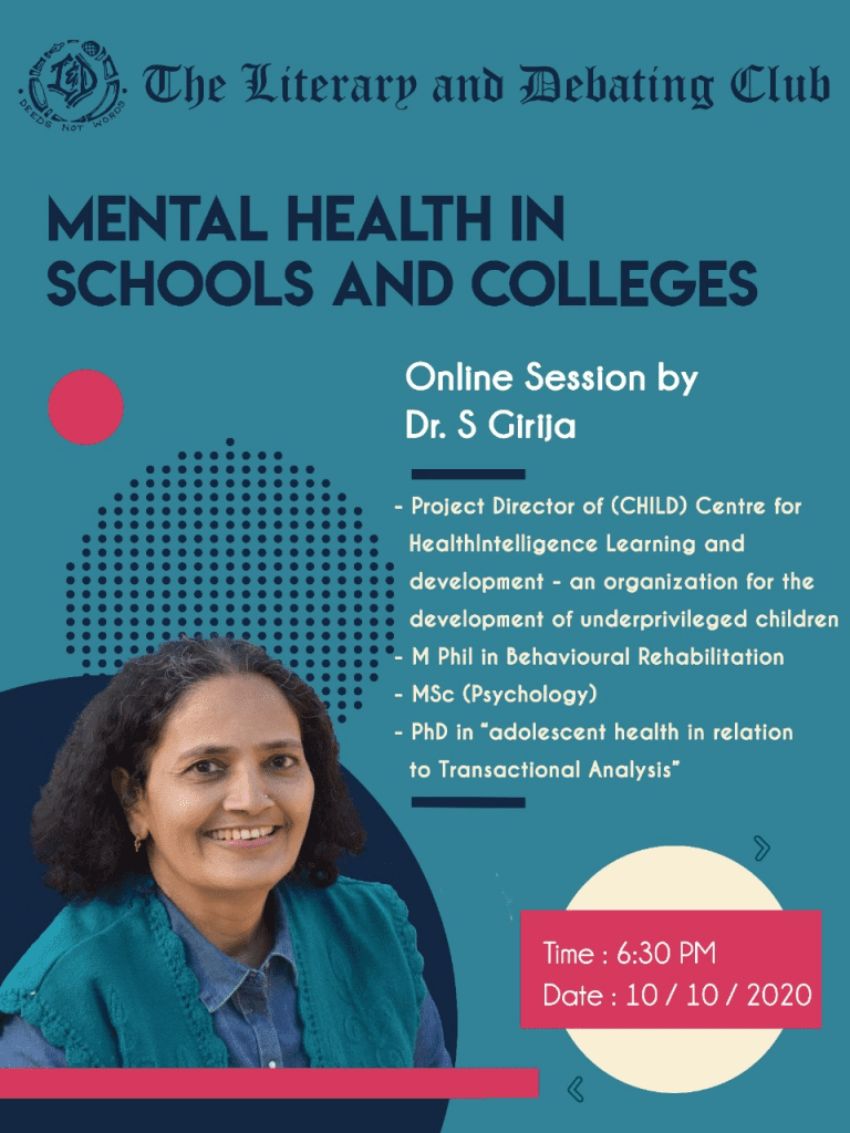 Webinar on Mental Health in Schools and Colleges by NIT, Calicut