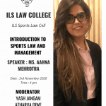 ILS Sports Law Webinar Series on Introduction to Sports Law and Management
