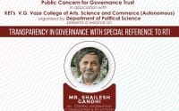 PCGT Webinar on Transparency in Governance with Reference to RTI