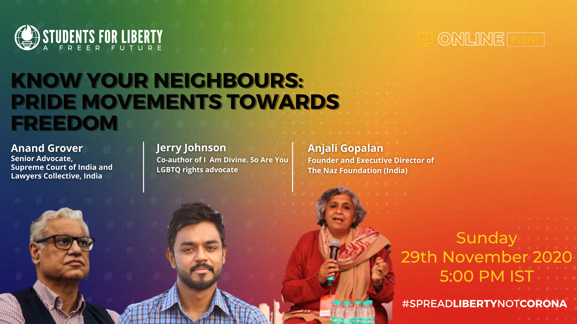 SFL's Webinar on Know Your Neighbours: Pride Movements Towards Freedom