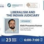 CCS Virtual Campus Talk on Liberalism and the Indian Judiciary with Alok Prasanna Kumar