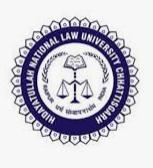HNLU raipur teaching non teaching positions job