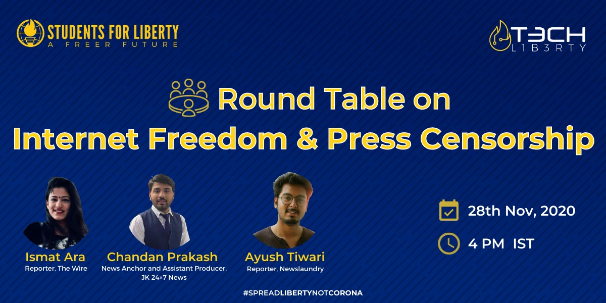 SFL's Round Table Conference on Internet Freedom & Press Censorship under the Tech Liberty Campaign
