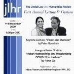 Jindal Law and Humanities Review's 1st Annual Lecture and Oration