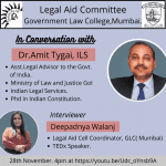 Legal Aid Committee Government Law College,Mumbai. Webinar
