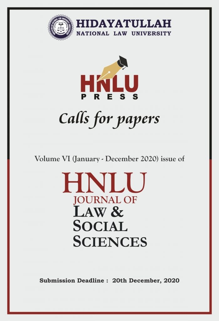 HNLU's Journal of Law and Social Sciences