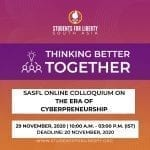 SASFL's Online Colloquium on The Era of Cyberpreneurship