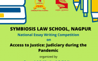 Symbiosis Law School's National Essay Writing Competition on Access to Justice
