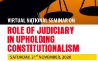 Sharda University's Seminar on Role of Judiciary in Upholding Constitutionalism