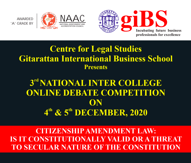 giBS 3rd Virtual National Debate Competition