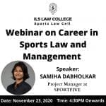ILS Sports Law Webinar Series on Career in Sports Law and Management