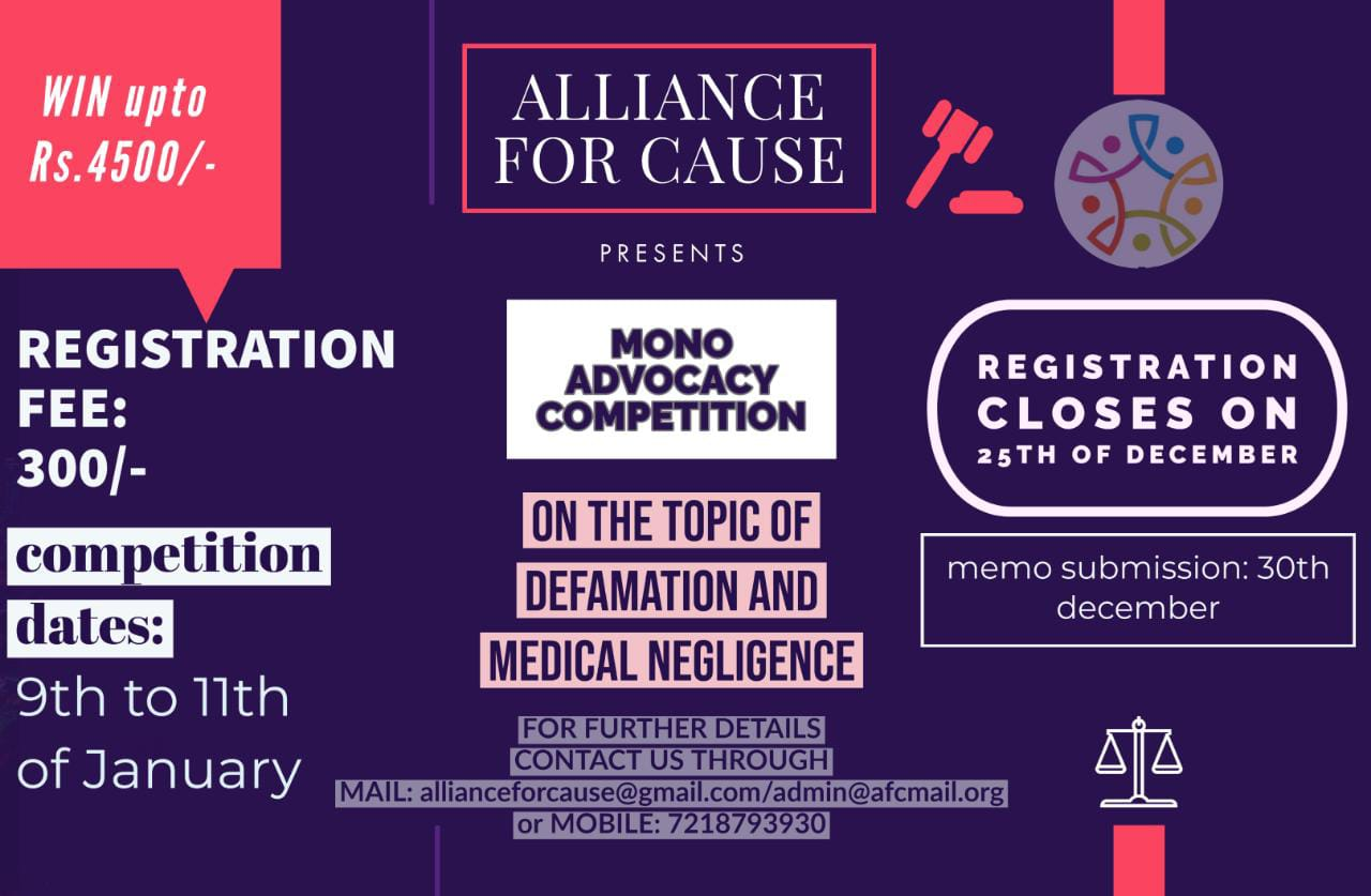 Mono-Advocacy Competition by Alliance For Cause [AFC]