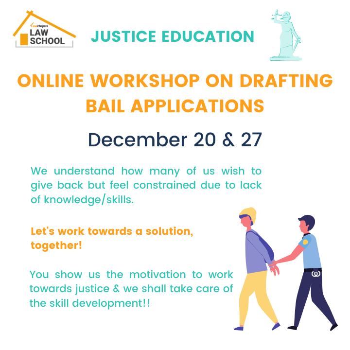drafting bail application workshop