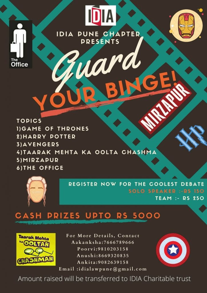IDIA Pune's Pop Culture Debate Competition on Guard your Binge