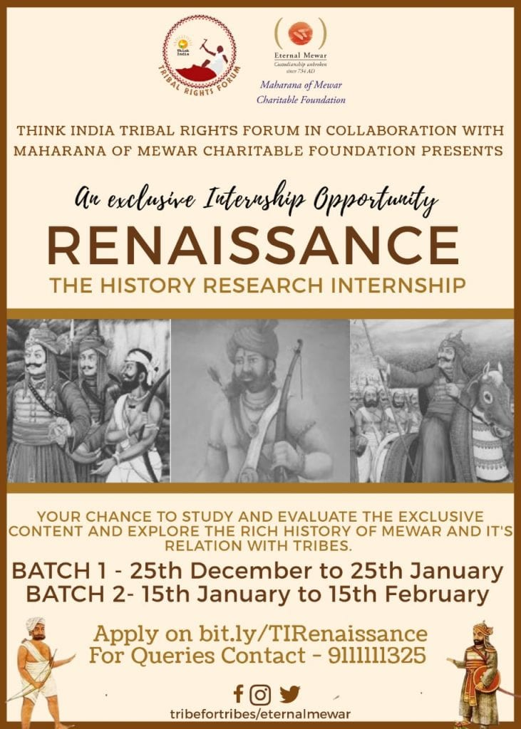 Online Renaissance: The History Internship by Think India Tribal Rights Forum