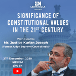 Lex Macula's Webinar on Significance of Constitutional Values in the 21st Century