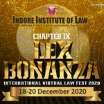 Indore Institute of Law's International Law Fest: Lex Bonanza 2020